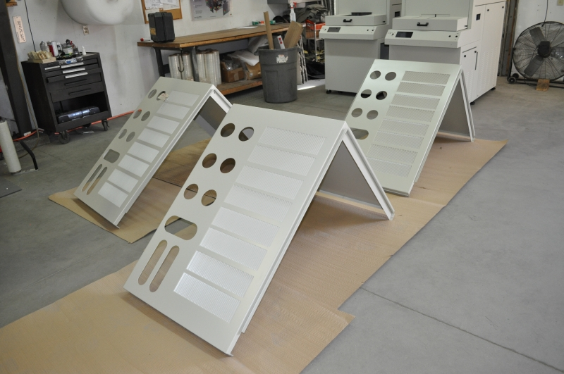Panels for enclosure